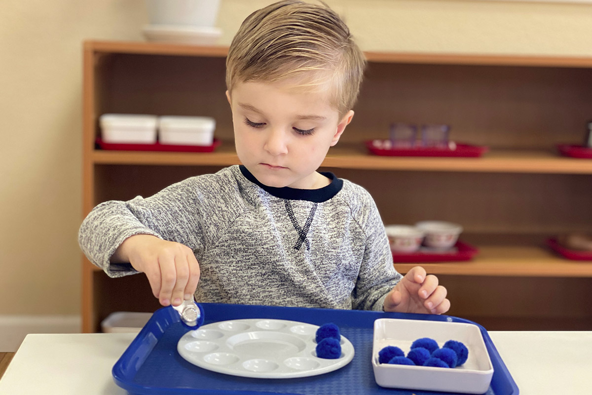 Montessori School Two-Year Old Student Practical Life